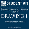 Student Kit: Mercer University Drawing I - Fall 2019/Caldwell