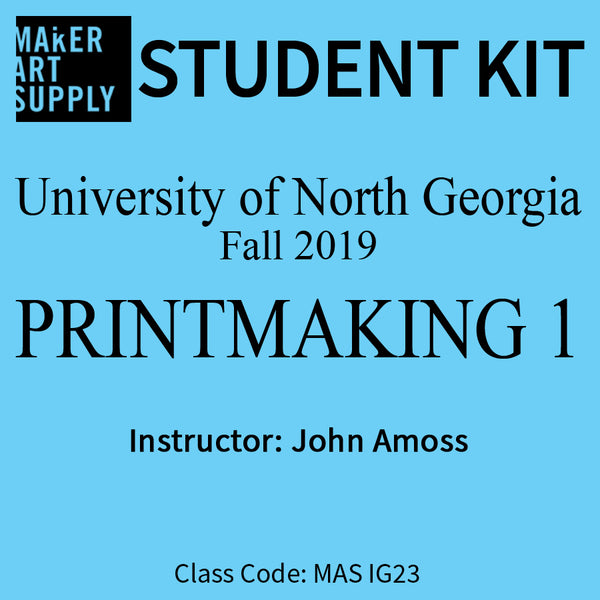 Student Kit: UNG Printmaking I - Fall 2019/Amoss