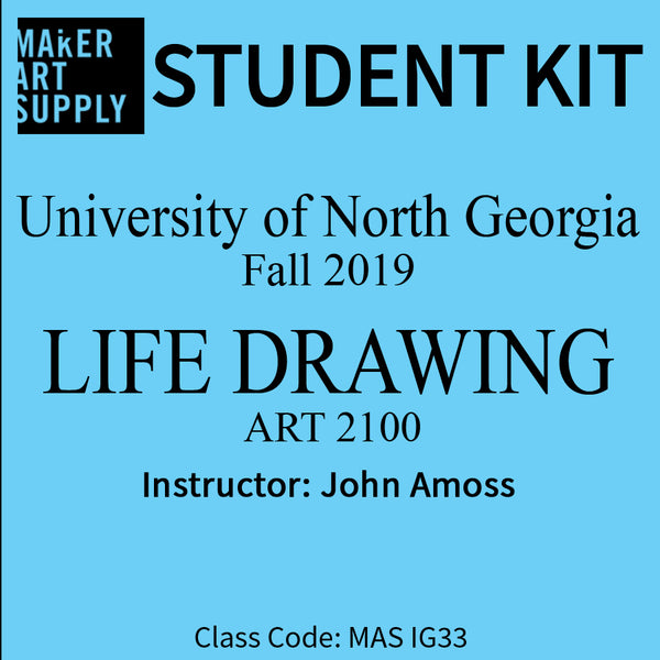 Student Kit: UNG Life Drawing Art 2100 - Fall 2019/Amoss