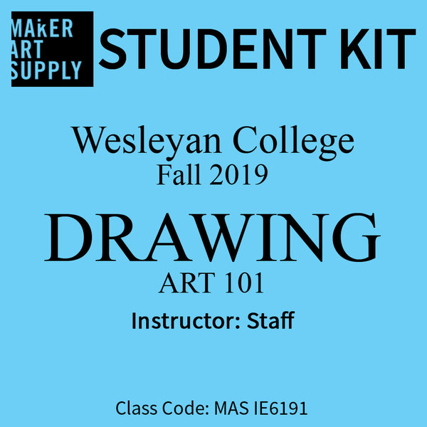 Student Kit: Wesleyan College ART 101 Drawing - Fall 2019