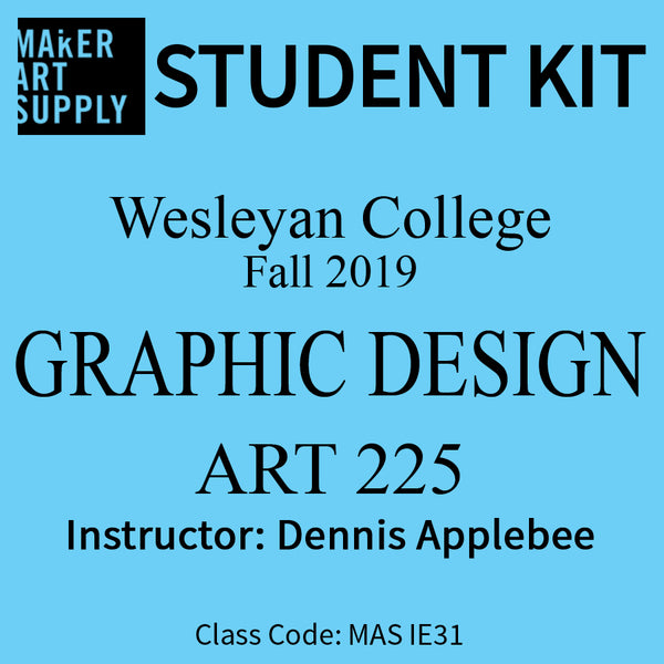 Student Kit: Wesleyan College Graphic Design ART 225 - Fall 2019/Applebee