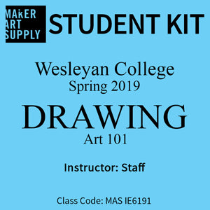 Student Kit: Wesleyan College ART101 Drawing - Spring 2019