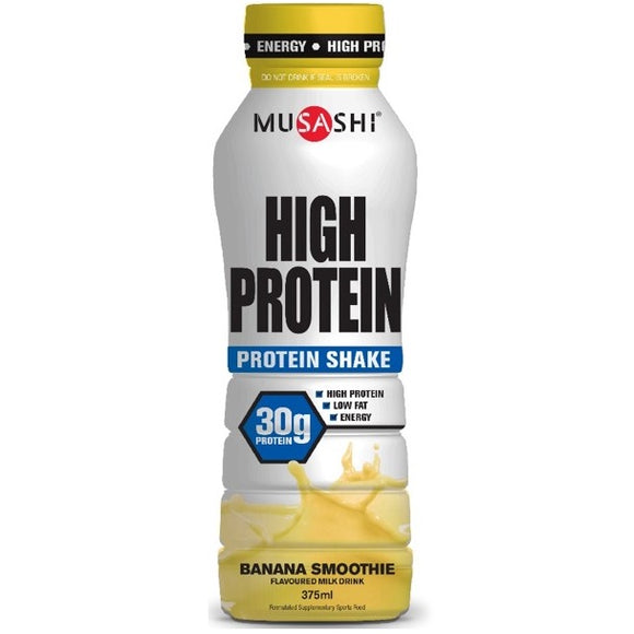 MUSASHI BOTTLES BANANA 375ML X 6