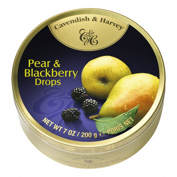 C&H PEAR& BLACKBERRY DROPS 200G X10