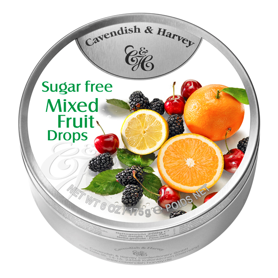 C&H SUGAR FREE MIXED FRUIT DROPS 175G X10
