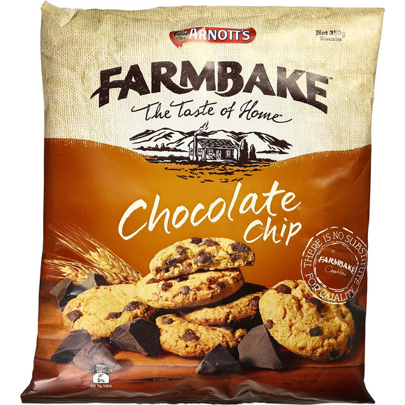 ARNOTT'S FARMBAKE CHOCOLATE CHIP 350G X 12