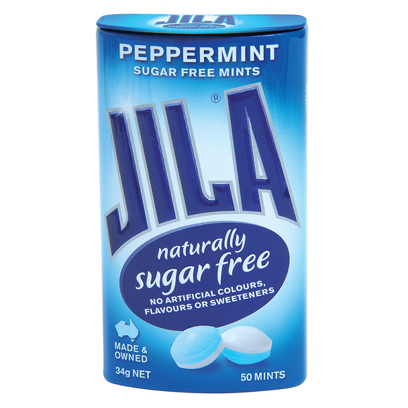 JILA MINTS TINS PEPPERMINT 34G X12