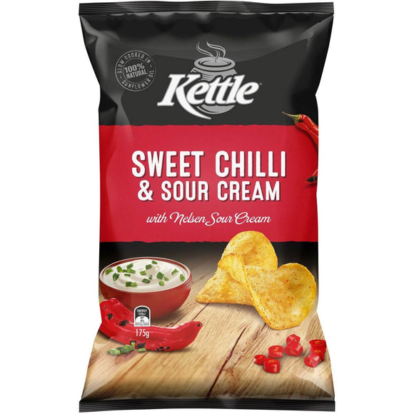 KETTLE SWEET CHILLI & SOUR CREAM 175G X 12