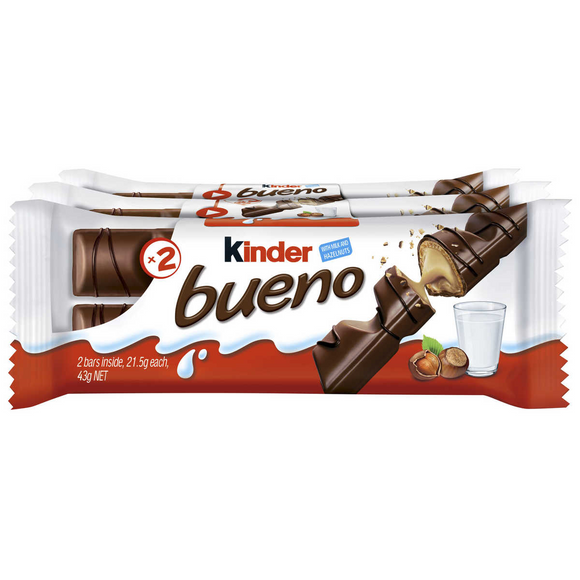 KINDER BUENO 3PK T2 X 3 X 10 ($0.99 a bar inc GST)
