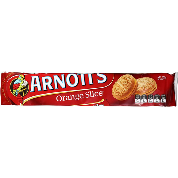 ARNOTT'S ORANGE SLICE 250G X 20