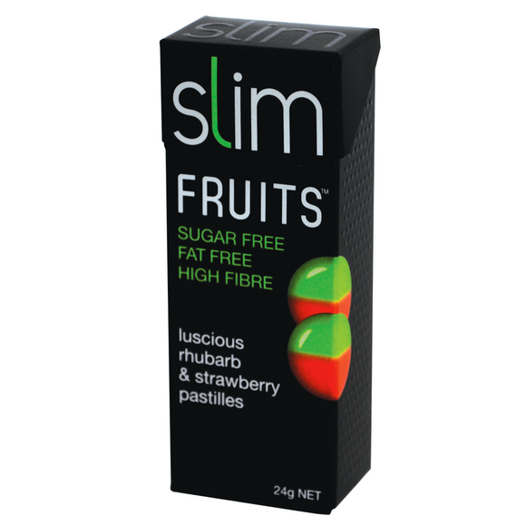 SLIM FRUITS RHUBARB & STRAWBERRY 24G X 18