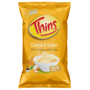 THINS CHEESE & ONION 45G X 18