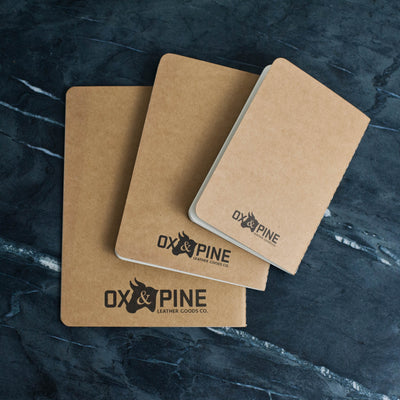 Personalized Refillable Snap Leather Journal - Notebooks - Ox & Pine