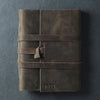Personalized Leather Wrap Journal - Rustic Brown - Ox & Pine