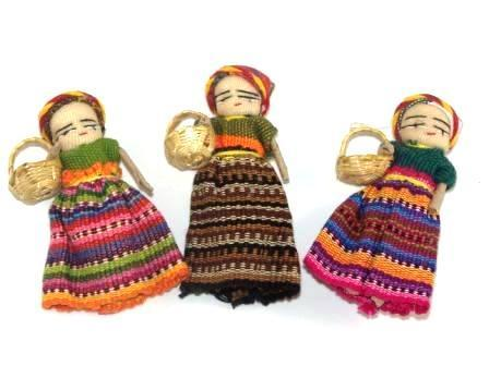 Fridge Magnet Worry Dolls (with basket)-worry dolls-Hammock Heaven