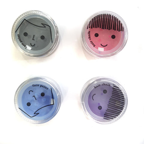 No Nasties Pretty Play Makeup - 4 Pack Face Paint and Hair Chalk