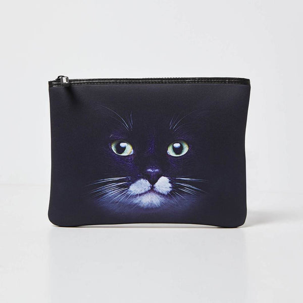Fearsome Into The Wild Pouch/Beauty Bag - Black Cat