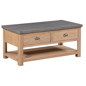 Cromer 2 Drawer Coffee Table - Cromer Concrete - HomePlus Furniture