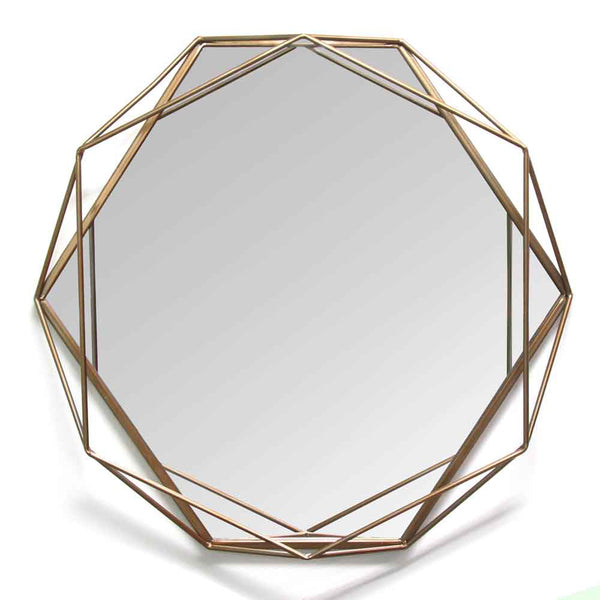 Stratton Home Decorative Octagon Shaped Chloe Wall Mirror - Gold