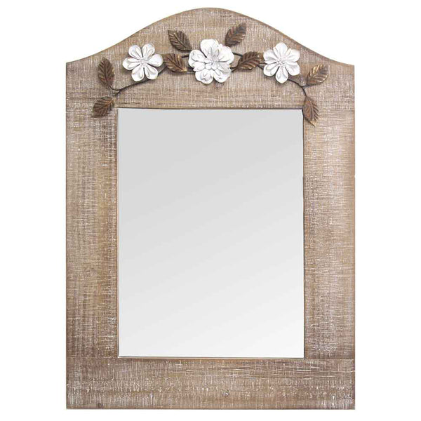 Stratton Home Decorative Floral Design Rectangle Belle Mirror