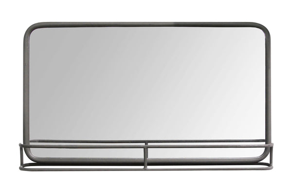 Stratton Home Decor S13561 Living Room Mason Metal Mirror with Shelf