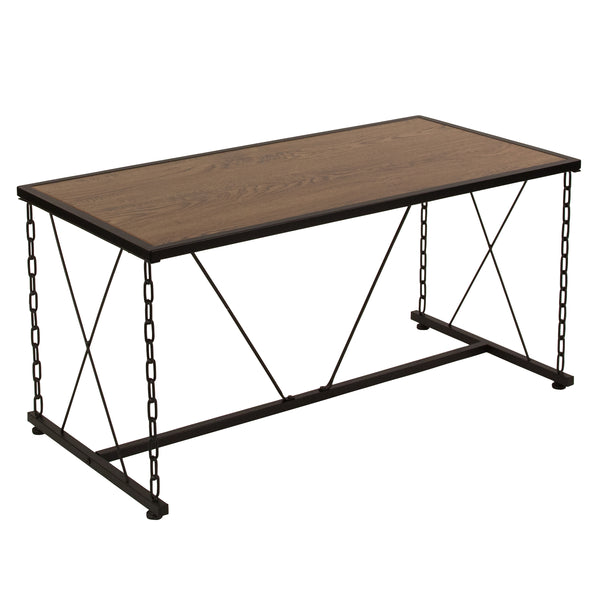 Vernon Hills Collection Coffee Table with Chain Accent Metal Frame