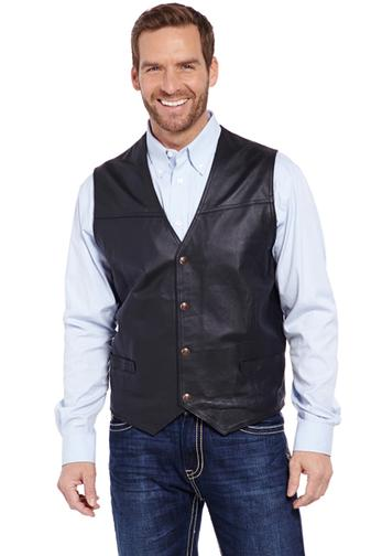 Outerwear - Cripple Creek Men's Nappa Leather Vest/ML1059 - Cripple Creek - Mock Brothers Saddlery and Western Wear