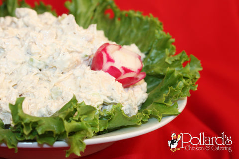 Chicken Salad on Tray with Crackers