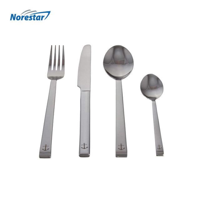 24 Piece Stainless Steel Nautical Theme Cutlery/Flatware Set