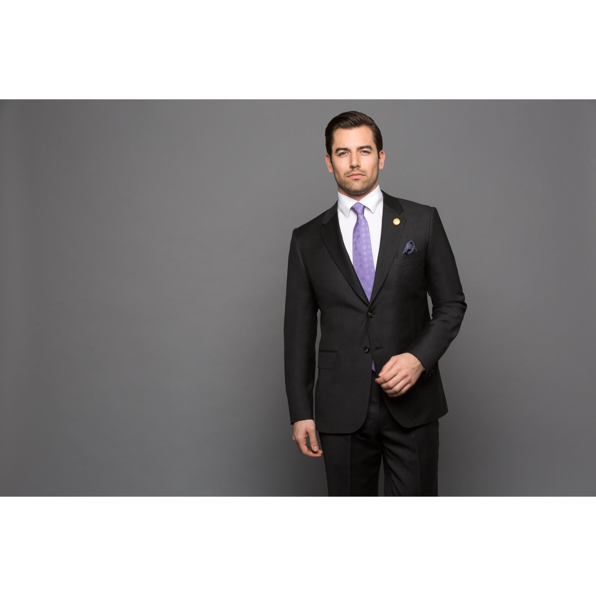 Chelsea Solid Grey 2-Piece Suit