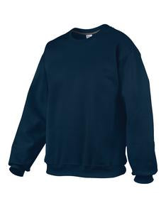 NAVY GILDAN® PREMIUM COTTON RING SPUN FLEECE CREWNECK SWEATSHIRT. 92000
