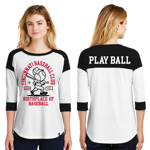 Birthplace of Baseball Ladies 3/4 Sleeve