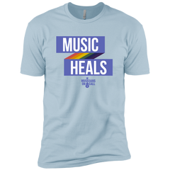 Music Heals Ribbon Tee [Available In Black, Heather Grey, White And Blue]