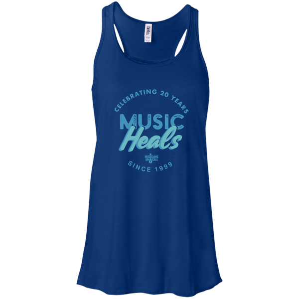 20th Anniversary Textured Crest Blue Tank