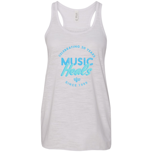 20th Anniversary Textured Crest Tank White