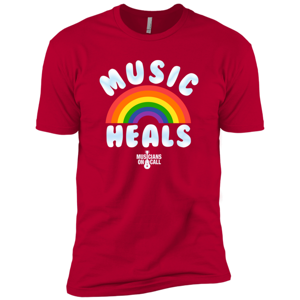 Music Heals Rainbow Tee [Available In Red, Heather Grey, Black and Indigo]