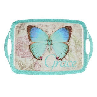Grace Butterfly Handled Serving Tray