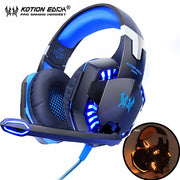 Headset Deep Bass Stereo wired gamer Earphone Microphone with backlit - MAXELAR