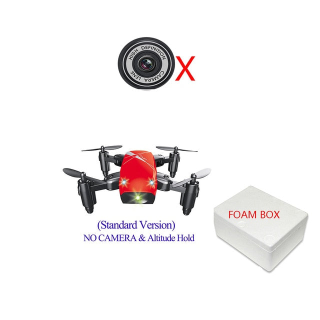 Mini RC Foldable Drone S9HW With Camera S9 No Camera RC Helicopter Drone - MAXELAR
