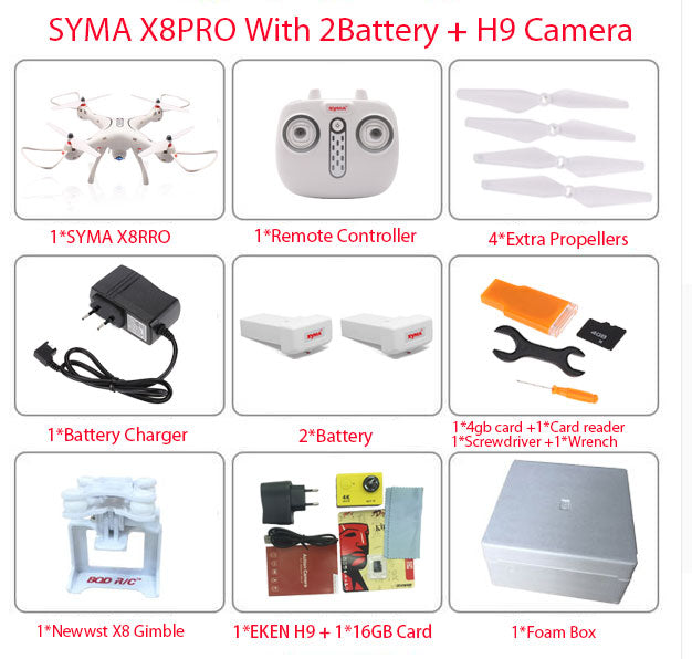 NSYMA X8PRO GPS DRONE RC Quadcopter With Wifi Camera - MAXELAR