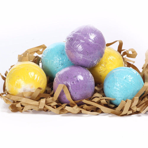 6 Pcs/pack 3 Scents Eucalyptus Lavender Orange Handmade SPA Bath Fizzies Best Relaxation Organic Natural Bath ball Bombs USM0900