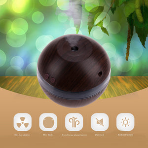 1L Air Humidifier Essential Oil Diffuser USB Wooden Plastic Ultrasonic Mini Household Use Ball Aromatherapy Electric Humidifier