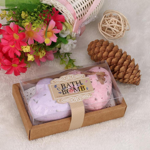 Home Hotel Bathroom Bath Ball Bomb Natural Sea Salt Lavender Heart Shaped Bubble Essential Body Scrub Body Cleaner #622