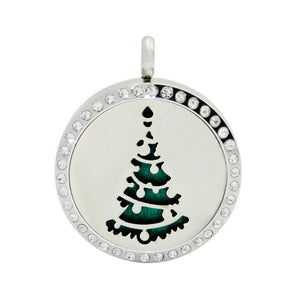 1pcs Vintage Christmas Pattern Carved Sweater Essential Oil Diffuser Locket Necklace For Aromatherapy Pendant Necklace 2017 New
