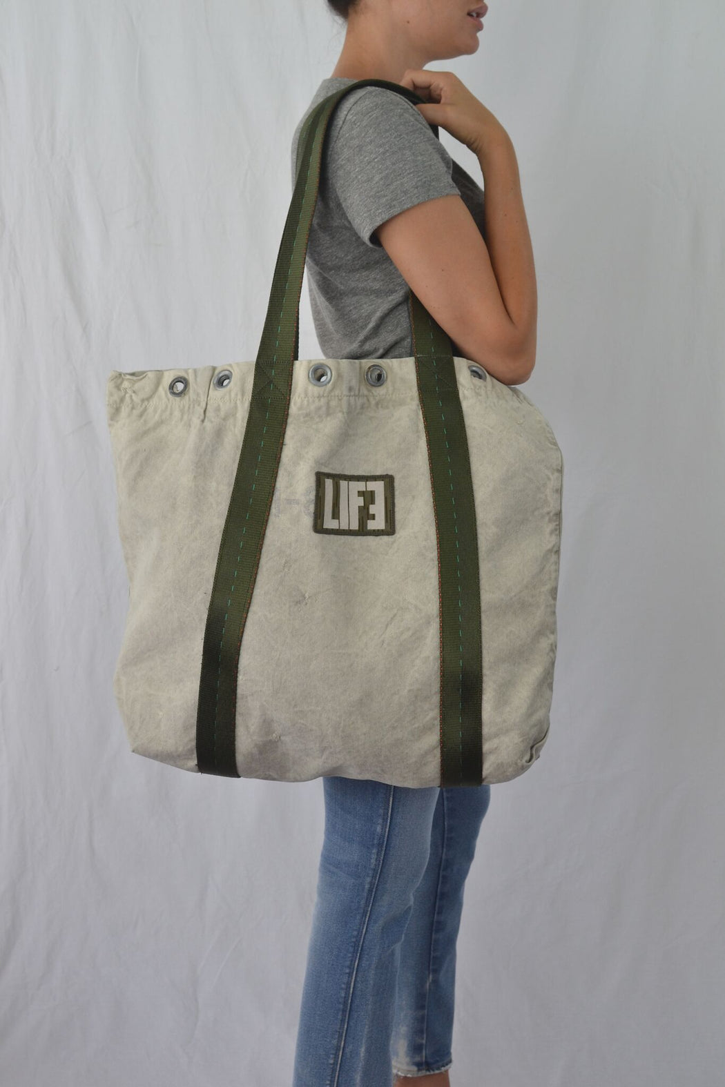Up-Cycled and Recycled Canvas US Mail Tote Bag