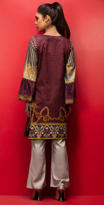 Stitched Digital Printed Embroidered Lawn Kurta with Embellishments | 1Pc  Casual Pret (CP-06)