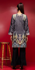 Stitched Digital Printed Embroidered Lawn Kurta With Embellishment | 1Pc  Casual Pret (CP-01)