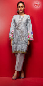 Stitched Digital Printed Embroidered Lawn Kurta with Embellishments | 1Pc Casual Pret (CP-02)
