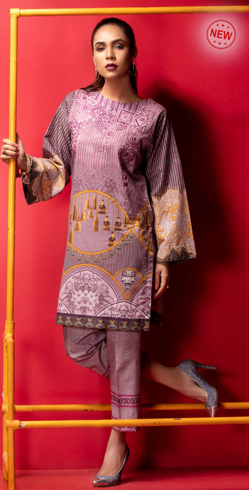 Stitched Digital Printed Embroidered Lawn Kurta with Embellishments | 1Pc  Casual Pret (CP-09)