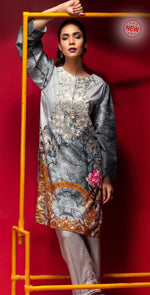 Stitched Digital Printed Embroidered Lawn Kurta with Embellishments | 1Pc  Casual Pret (CP-10)